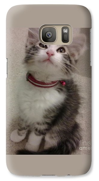 Galaxy Case featuring the photograph Kitty - Forgotten Innocence by Barbara Yearty