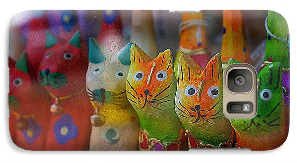 Galaxy Case featuring the photograph Kitty Kitty  by John S