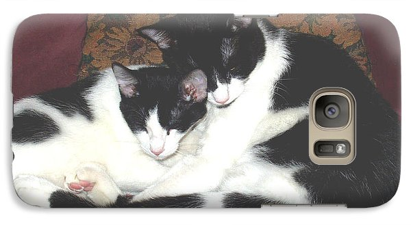 Galaxy Case featuring the photograph Kitty Love by Marna Edwards Flavell