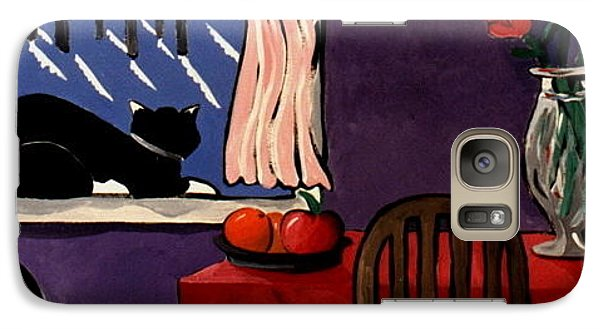 Galaxy Case featuring the painting Kitty Over Manhattan by Lance Headlee
