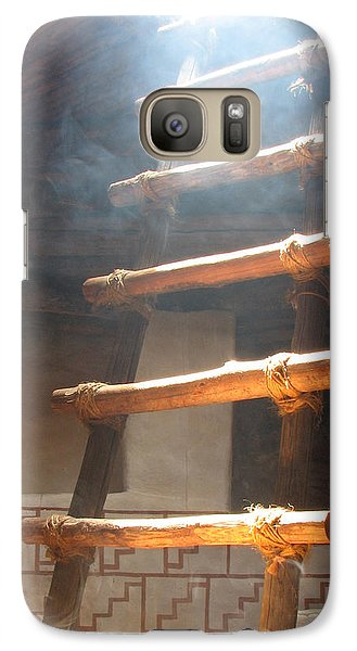 Galaxy Case featuring the photograph Kiva Ladder by Marcia Socolik