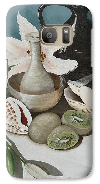 Galaxy Case featuring the painting Kiwifruit by Helen Syron