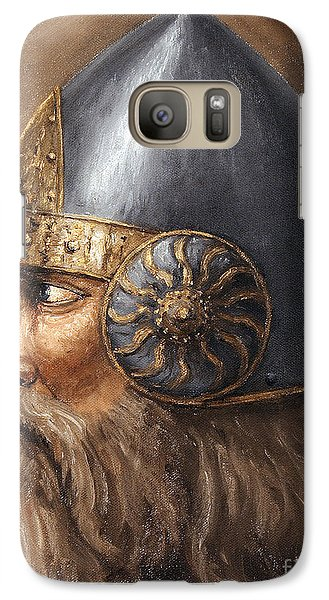 Galaxy Case featuring the painting Knight by Arturas Slapsys