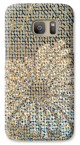 Galaxy Case featuring the photograph Knit Net Flower 1 by Darla Wood