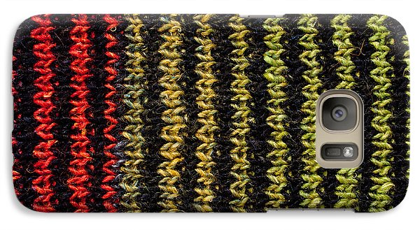 Galaxy Case featuring the photograph Knitted Striped Scarf by Les Palenik