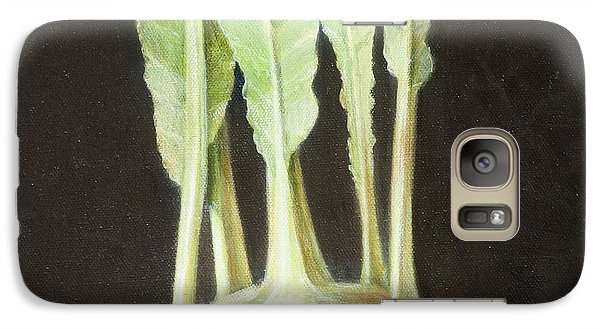 Kohl Rabi, 2012 Acrylic On Canvas Galaxy S7 Case by Lincoln Seligman