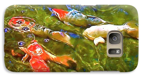 Galaxy Case featuring the photograph Koi 1 by Pamela Cooper