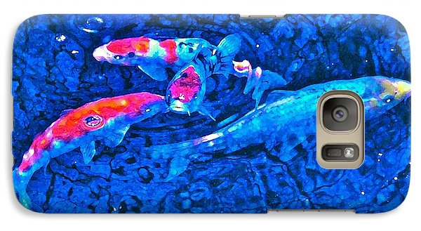 Galaxy Case featuring the photograph Koi 2 by Pamela Cooper