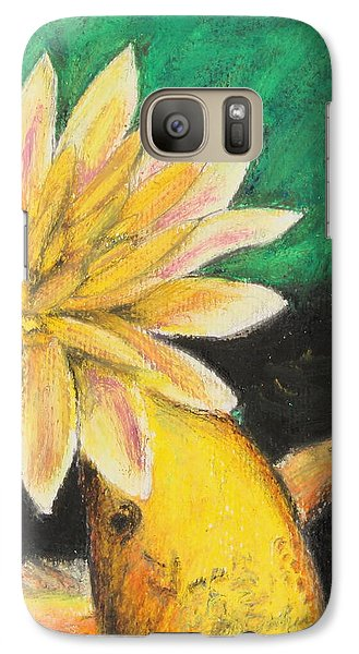 Galaxy Case featuring the painting Koi And The Lotus Flower by Jeanne Fischer