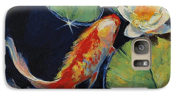 Koi And White Lily Galaxy S7 Case