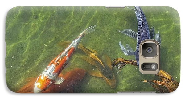 Galaxy Case featuring the photograph Koi by Daniel Sheldon