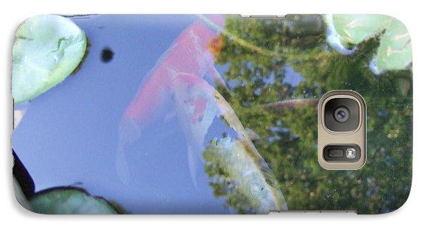 Galaxy Case featuring the photograph Koi by Deborah DeLaBarre