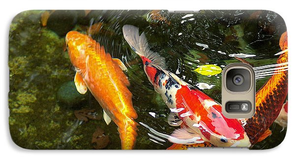 Galaxy Case featuring the photograph Koi Fish Japan by John Swartz