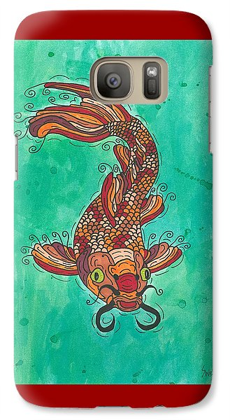 Galaxy Case featuring the painting Koi Fish by Susie Weber