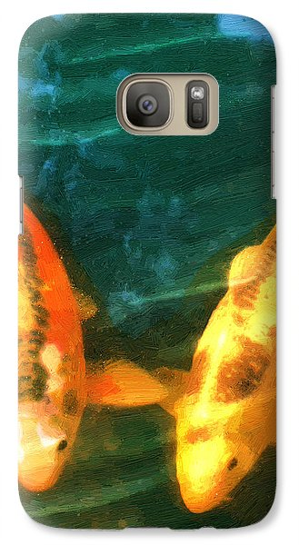Galaxy Case featuring the painting Koi Friends by Doug Kreuger