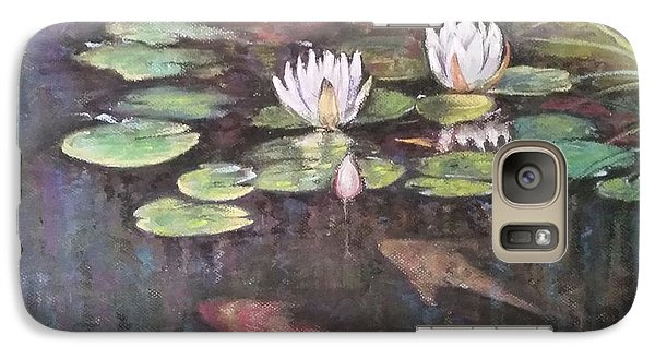 Galaxy Case featuring the painting Koi Pond by Rose Wang