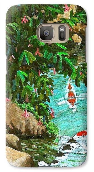 Galaxy Case featuring the painting Koi Kingdom by Dan Redmon