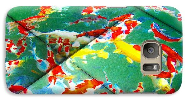 Galaxy Case featuring the digital art Koi Mosaic II by Manny Lorenzo