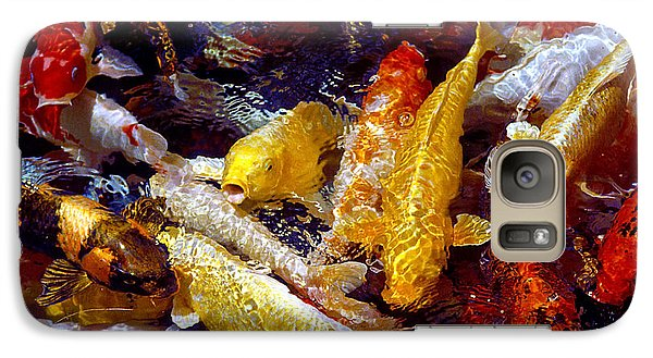 Galaxy Case featuring the photograph Koi Pond by Marie Hicks