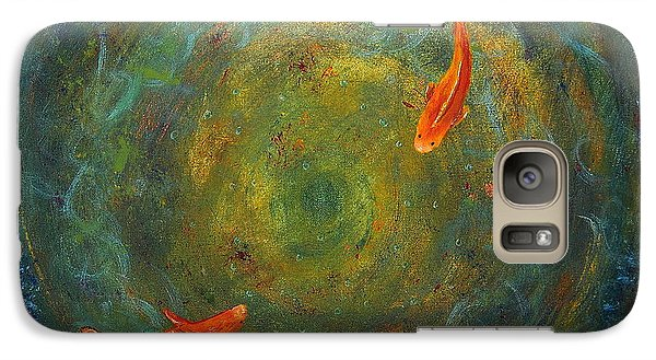 Galaxy Case featuring the painting Koi Whirlpool by Tamyra Crossley
