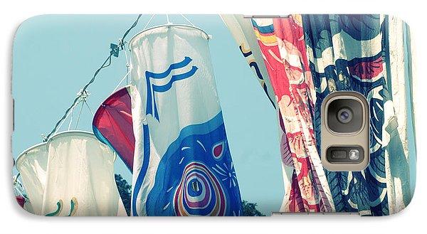 Galaxy Case featuring the photograph Koinobori Flags by Rachel Mirror