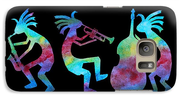 Kokopelli Jazz Trio Galaxy S7 Case by Jenny Armitage