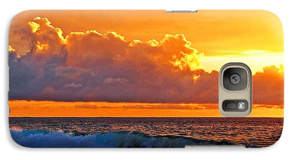 Galaxy Case featuring the photograph Kona Golden Sunset by David Lawson