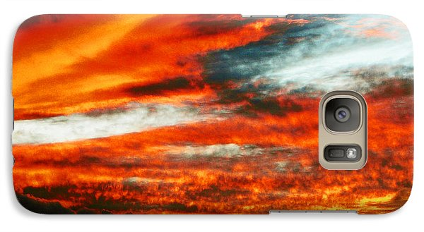Galaxy Case featuring the photograph Kona Sunset 77 Lava In The Sky  by David Lawson