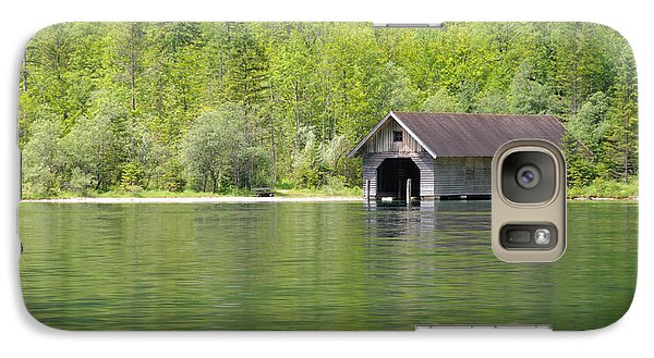 Galaxy Case featuring the photograph Konigsee Boathouse by Jeremy Voisey