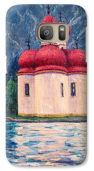 Galaxy Case featuring the painting Konigsee Church by Cheryl Del Toro