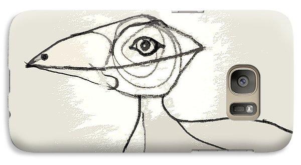 Galaxy Case featuring the drawing Koo-koo Bird by Kjirsten Collier