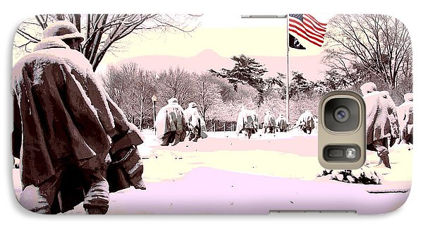 Galaxy Case featuring the mixed media Korean War Memorial by Charles Shoup