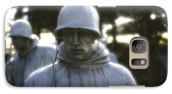 Galaxy Case featuring the photograph Korean War Soldier 2 by Nicola Nobile