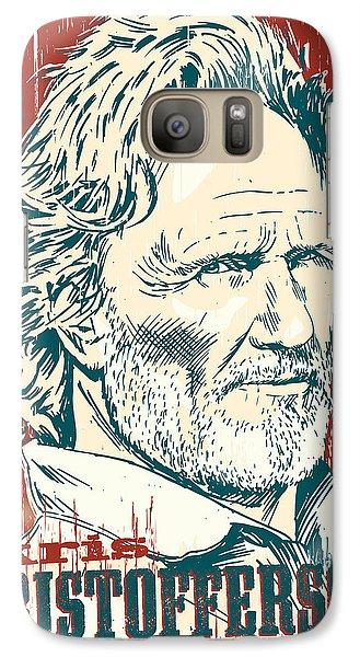 Johnny Cash Galaxy S7 Case - Kris Kristofferson Pop Art by Jim Zahniser