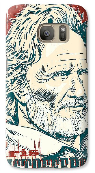 Kris Kristofferson Pop Art Galaxy S7 Case by Jim Zahniser