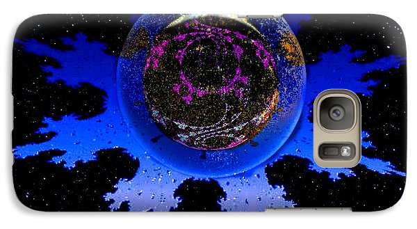 Galaxy Case featuring the digital art Krishna Conciousness by Steed Edwards