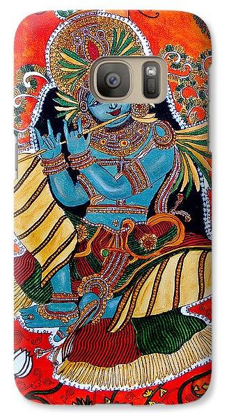 Galaxy Case featuring the painting Krishna by Saranya Haridasan