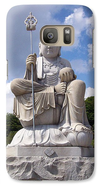 Galaxy Case featuring the photograph Ksitigarbha by Cheryl McClure