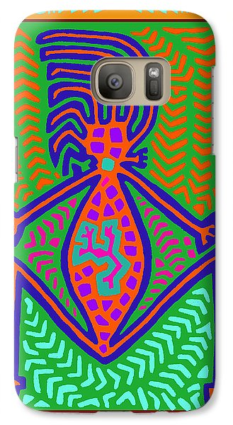 Galaxy Case featuring the digital art Kuna Indian Mother Earth by Vagabond Folk Art - Virginia Vivier