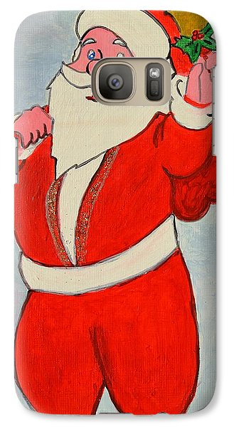 Galaxy Case featuring the painting Kurdish Santa Clause  by Magdalena Frohnsdorff
