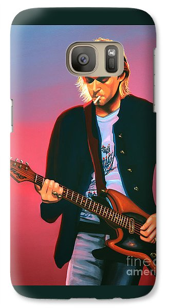 Kurt Cobain In Nirvana Painting Galaxy S7 Case by Paul Meijering