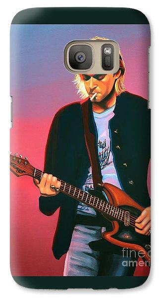 Kurt Cobain In Nirvana Painting Galaxy Case by Paul Meijering