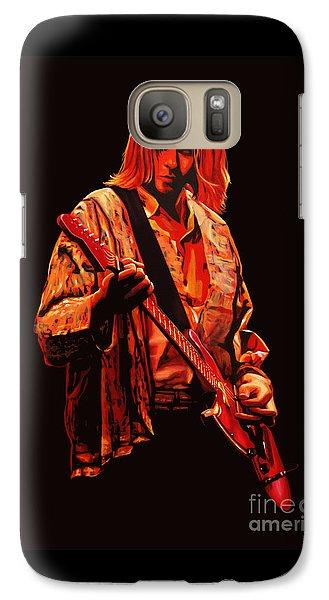 Kurt Cobain Painting Galaxy Case by Paul Meijering