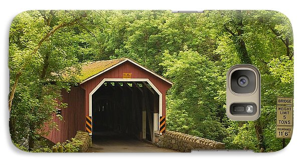 Galaxy Case featuring the photograph Kurtz Bridge In July by Bob Sample