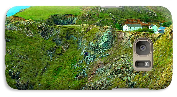 Galaxy Case featuring the photograph Kynance Cove by Rachel Mirror