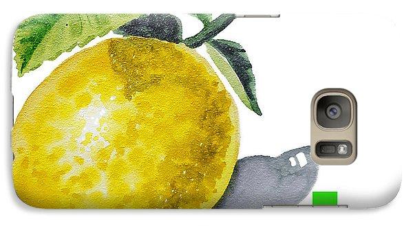 Lemon Galaxy S7 Case - L Art Alphabet For Kids Room by Irina Sztukowski