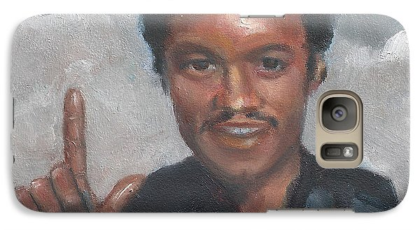 Galaxy Case featuring the painting L Is For Lando by Jessmyne Stephenson