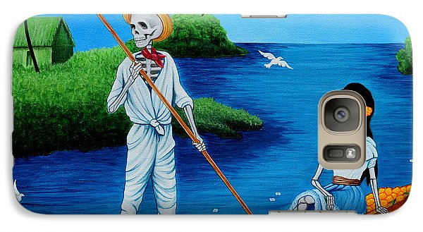 Galaxy Case featuring the painting La Barca by Evangelina Portillo