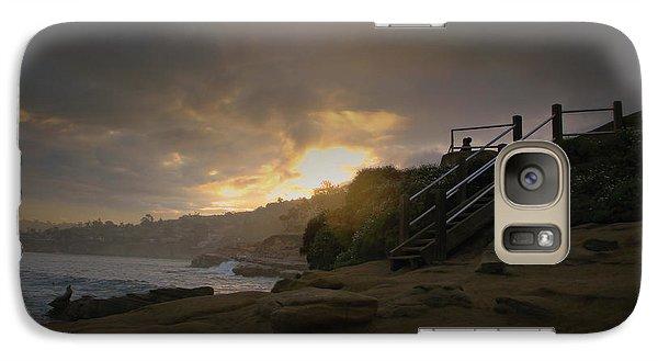 Galaxy Case featuring the photograph La Jolla Cove Sunrise by Jeremy McKay