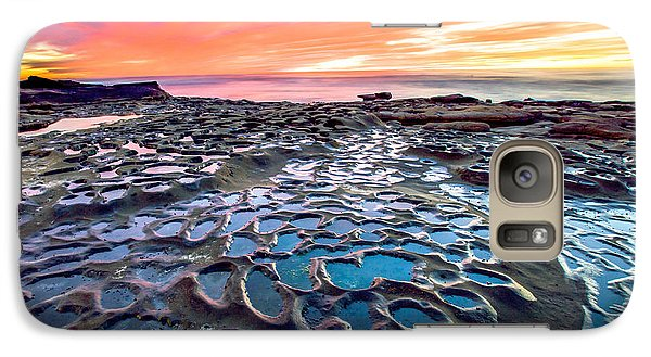 Galaxy Case featuring the photograph La Jolla Potholes by Robert  Aycock